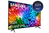 Samsung Crystal UHD 2020 50TU7105- Smart TV de 50' con Resolución 4K, HDR 10+, Crystal Display, Procesador 4K, PurColor, Sonido Inteligente, Función One Remote Control y Compatible Asistentes de Voz
