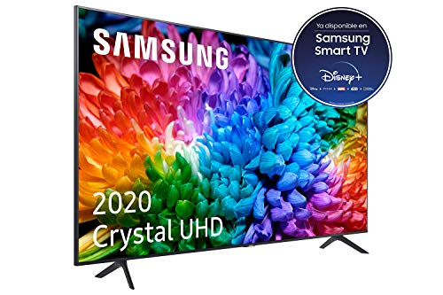Samsung Crystal UHD 2020 55TU7105- Smart TV de 55' con Resolución 4K, HDR 10+, Crystal Display, Procesador 4K, PurColor, Sonido Inteligente, Función One Remote Control y Compatible Asistentes de Voz