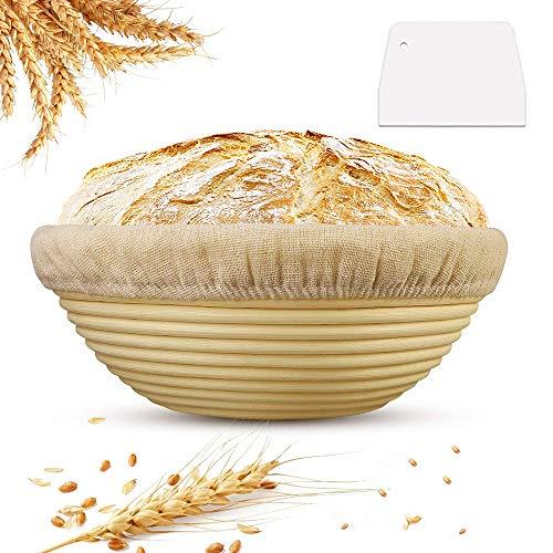 Frutta Pane Barbecue BovoYa 1 Pezzo Cesto per fermentazione Pane Rattan Naturale Cesto per Pane cestini per la conservazione degli Alimenti cestini per la Cucina per Colazione