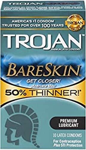 Trojan Sensitivity Bareskin Latex Condoms, 10 Count