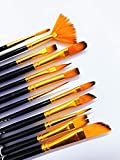 KABEER ART Artist Quality Synthetic Assorted Brush Set of 12 pc