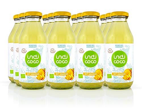 indi coco - 12 x 350 ml BIO-Kokossaft mit Ananas