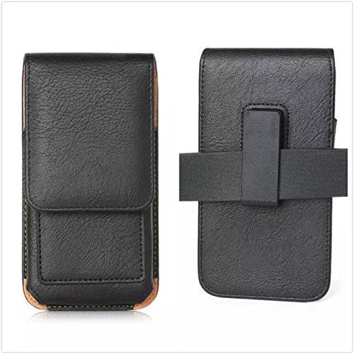generia teléfono móvil de rotación vertical bolsa Carcasa para BLU Dash de 5,5sintética Holster Teléfono Celular Negro
