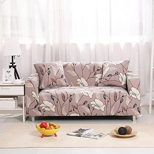 Housses de canapé Extensibles élastiques pour Salon Housse de canapé sectionnelle Universelle en Forme de L Meubles fauteuils Protecteur A26 3 Places