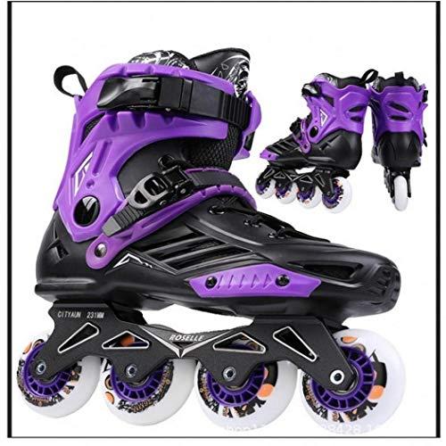 AYES Herren und Damen Rollschuhe Klassische Inlineskates Verstellbare Fitness Rollschuhe für Jungen und Mädchen, Unisex, violett, 43