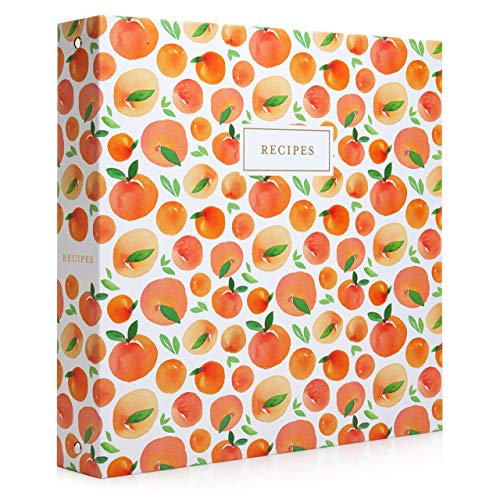 Jot & Mark Recipe 3 Ring Binder 8.5x11   Full-Page with Clear Protective Sleeves and Color Printing...