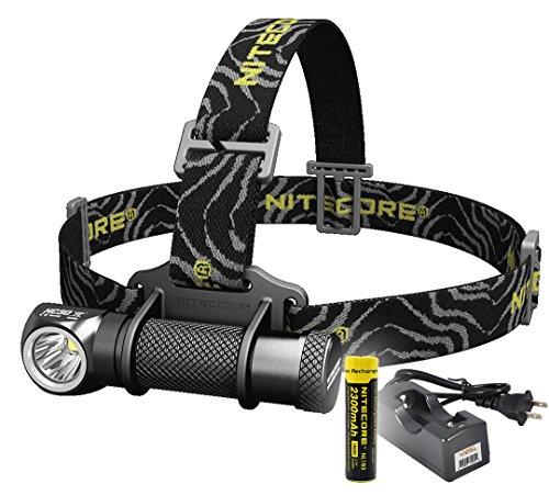 Nitecore HC30 1000 Lumens Rechargeable LED Headlamp with Nitecore Battery and LumenTac Charger - Bundle: 3 items