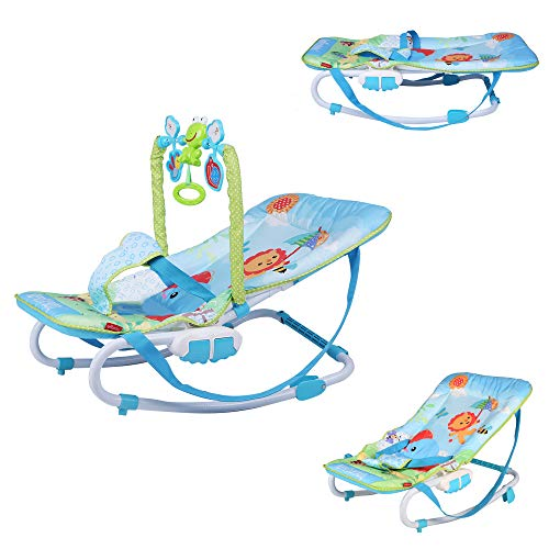 Great Deal! COLOR TREE Baby Portable Rocking Chair Music Rocker Seat with Removable Toys Infant-to-T...