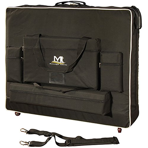 Master Massage MT Wheeled Massage Table Carrying Case, 28 Inch, Black