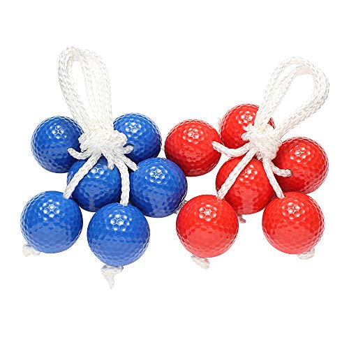 VLUB Ladder Ball Ladder Ball Game Ladder Balls Made from Real Golf Balls 6 Pack