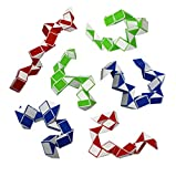 Twist Puzzle Snake Fidget Toy for Stress Relief and Anxiety - Pack of 6 Puzzle Fidget Brain Teasers