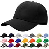 Falari Baseball Cap Adjustable Size Solid Color G001-01-Black