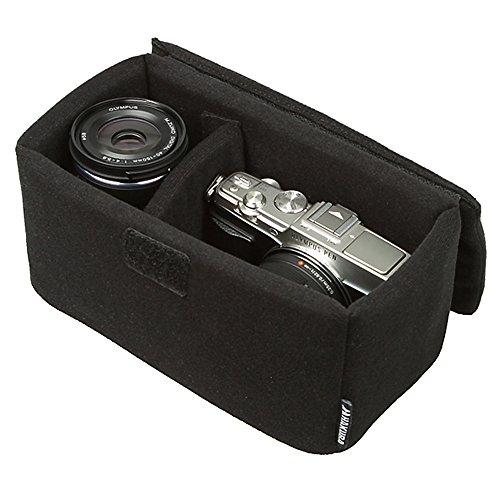 HAKUBA カメラバッグ インナーソフトボックス 200 ブラック 取り外し可能なフタ付き KCS-39-200BK
