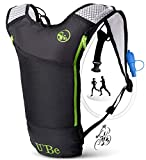 U`Be Hydration Pack Water Backpack - Camelback for Running Hiking Biking - Camel Backpack with 2l Water Bladder (Biker)