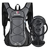 ROCKRAIN Hydration Backpack, Windrunner Lightweight Hydration Pack with 2L BPA Free Water Bladder - Outdoor Sports Gear for Running, Cycling, Hiking, Insulated Water Backpack for Men Women Kids