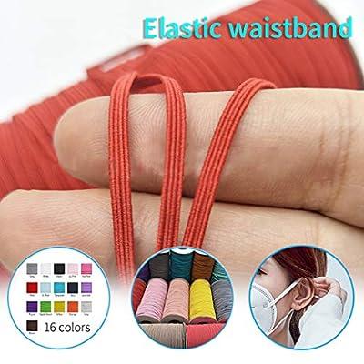 NA Disposable Elastic Rope, DIY Elastic Band White Multicolor Homemade Rope Elastic Band