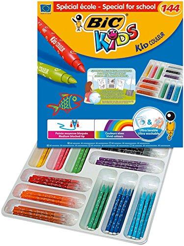 KID COULEUR Class pack 144 feutres de coloriage KIDS COULEUR Pte Moy. bloquée 12 couleurs