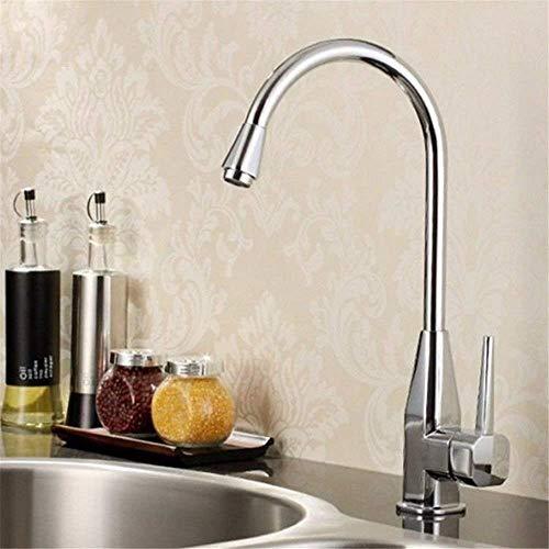 FXDCQC Antike Küche Spülbecken Küche Wasserhahn warmes und kaltes Gericht Waschbecken Kupfer Ventilkörper die Waschbecken aus Edelstahl Zapfhähne zu drehen.