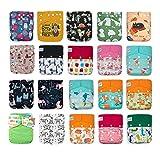 KaWaii Baby 20 One Size Pocket Cloth Diaper Shells Animal Learning Bundle #1120