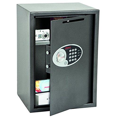 Phoenix Vela SS0804ED Deposit Home & Office Safe met elektronisch codeslot, grafiet-grijs (groot)