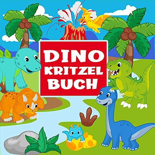 Dino Kritzelbuch: Über 50 einfache und lustige Dinos zum Ausmalen - Das perfekte Malbuch für Mädchen und Jungen ab 2 Jahre