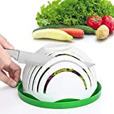 Salad Cutter Bowl Family Size Upgraded Salad Maker, Fast Fruit Vegetable Salad Chopper Bowl, Fresh Salad Slicer Dishwasher Safe BPA-Free