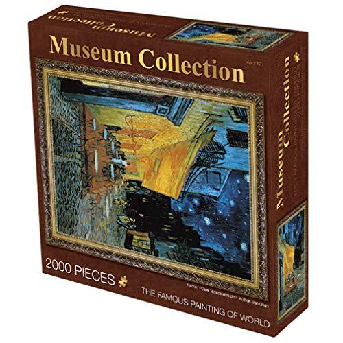 Legpuzzels 2000 Pieces for Volwassenen/Kids Theme Puzzle Sets Voor Gezin, Onderwijs En Games Personality Gift Voor Kinderen Ouder Dan 14 Jaar (Cafe Onder De Sterren)