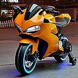 Ride-On vehículo Juguetes for niños moto eléctrica puede sentarse 3-6 años de edad de tres ruedas doble recorrido a primera Educación Infantil de carga grande juguete (Color: Azul) ( Color : Orange )