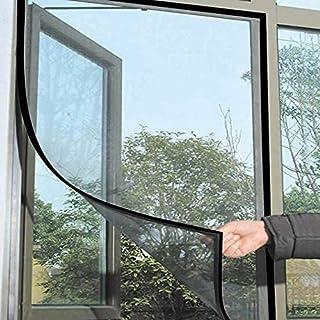 Guilty Gadgets Duża siatka okienna siatka przeciw owadom owady owady owady przeciw owadom mole siatka na drzwi czarna okno...