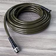 """Water Right 400 Series (7/16"""") Slim Garden Hose, Drinking Water Safe, 25-Foot, Lead-Free Brass Fittings, Olive"""