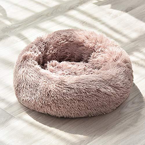 IFRIK zacht wasbare hond huisdier warm mand bed kussen bank, M 60cm diameter, Rice dumplings