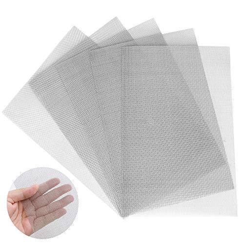 Malla de alambre tejido 30, paquete de 5, tamaño A4 (30 x 21 cm), pantalla de malla de acero inoxidable 304 para bricolaje, ventilación, filtro, seguridad, ventana y jardín, etc. (30MeshxA4)