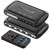 Fosmon 4-Porte Interruttore HDMI 4K con Pip, 4x1 Switch HDMI Automatico Selettori Switcher Auto UHD HDR Arc 3D Full 1080p HDCP, 3 Ingressi 1 Uscita HDMI Splitter per HDTV PS4 Xbox One Roku Apple TV