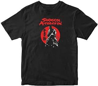 Men's Black Short Sleeve Generic Cotton Samurai Cult Shogun Assassin Lone Wolf and Cub Japan T-Shirt