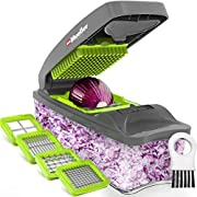 Mueller Chopper 4 Blade Pro Series - Strongest - NO MORE TEARS 30% Heavier Duty Multi Vegetable-Fruit-Cheese-Onion Chopper-Dicer-Kitchen Cutter