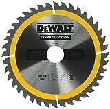 Dewalt DT1945-QZ Hoja para sierra circular portátil para construcción 190 x 30 mm 40D ATB +10º, plata/amarillo/negro, talla única