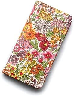 iPhone XRケース 手帳型 リバティ マーガレットアニー(オレンジ&ピンク))コーティング SHOKO MIYAMOTO かわいい おしゃれ マグネット無しでカード安全 スマホケース アイフォンケース Liberty…