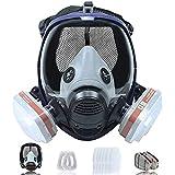 Respiratore A Pieno Facciale 16 In 1 Di Grandi Dimensioni,Maschera Respiratoria, Maschera Respiratoria Riutilizzabile Da Indossare Sulla Testa, Filtro In Cotone Sostituibile, Riutilizzabile