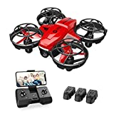 Holy Stone HS420 Mini Drone with HD FPV Camera for Kids Adults Beginners, Pocket RC Quadcopter with 3 Batteries, Toss to Launch, Gesture Selfie, Altitude Hold, Circle Fly, High Speed Rotation