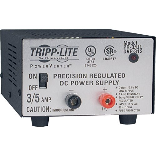 Tripp Lite PR-3UL DC Power Supply 3A 120V AC Input to 13.8 DC Output UL Certified