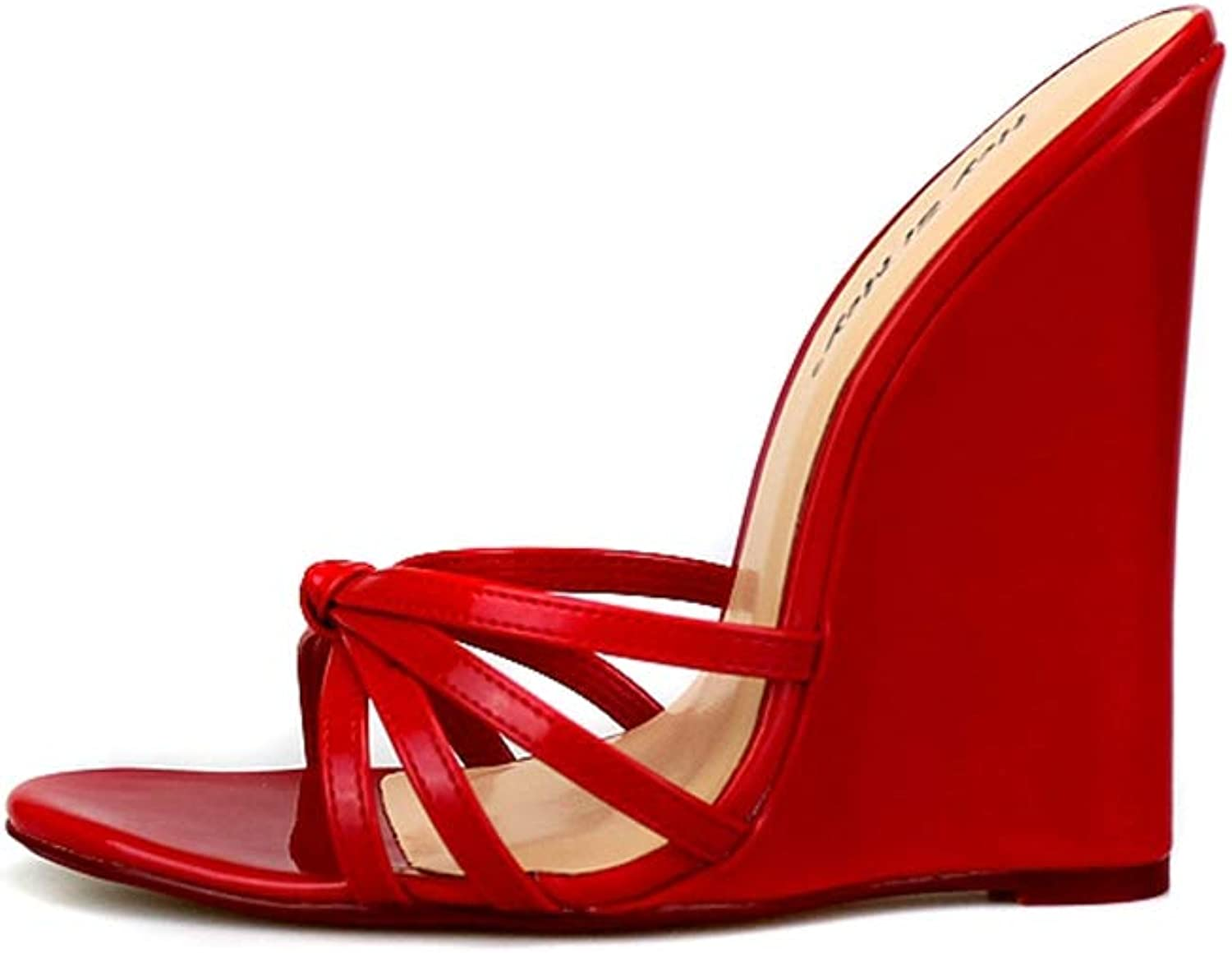 T-JULY Women Summer Sexy High Heels Plus Size Wedge Slippers Ladies Evening Party Beach shoes