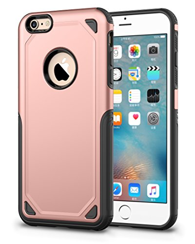 Protector Funda Case Uso rudo para iPhone 5 5s SE 6 6s 6 Plus 7 8 7 Plus 8 Plus X XS XR XS MAX (6 Plus / 6s Plus, Rosa)