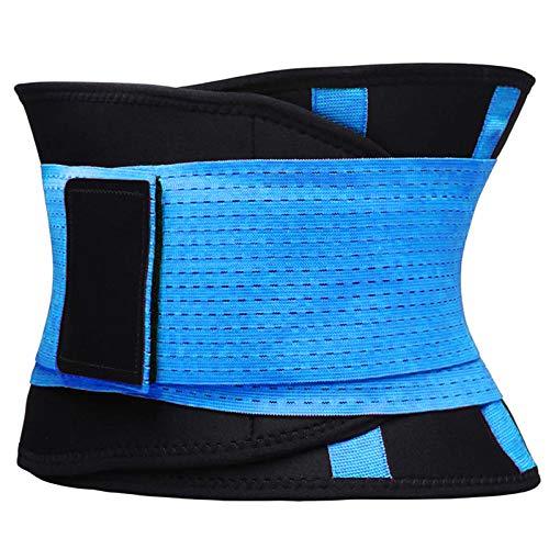 VENUZOR Waist Trainer Belt for Women - Waist Cincher Trimmer - Slimming Body Shaper Belt - Sport Girdle Belt (UP Graded)(Blue,Small)