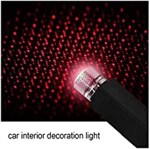 QAWACHH Car USB Star Ceiling Light Sky Projection Lamp Romantic Atmosphere Night Lights