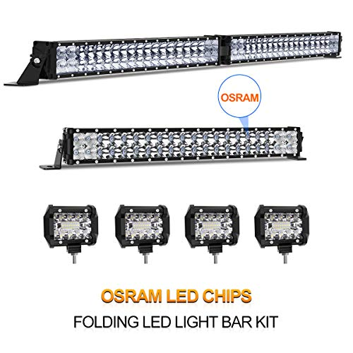 LED Light Bar Rigidhorse 28000LM 6500k IP68 42 Inch 22 Inch 4 Inch Flood Spot Beam Combo Osram Chip LED Light Bars for Jeep Truck ATV