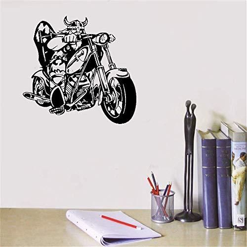 Wandaufkleber Schlafzimmer Zimmer Aufkleber Design Chopper Fahrradhelm Viking