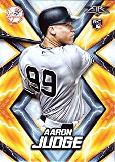 2017 Topps Fire Baseball #62 Aaron Judge Rookie Card