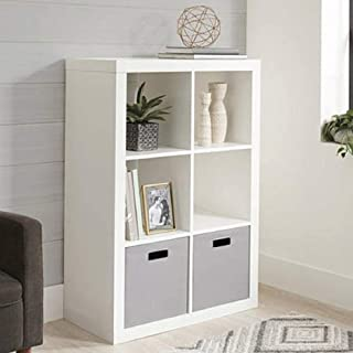 Better Homes and Gardens.. Bookshelf Square Storage Cabinet 4-Cube Organizer (Weathered) (White, 4-Cube) (White, 6-Cube)