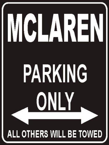 INDIGOS UG - Parkplatz - Parking Only Mclaren-Blown-Diffuser - Parkplatzschild