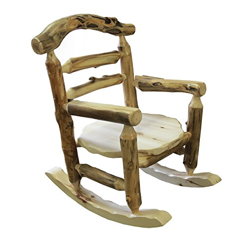 MOUNTAIN WOODS FURNITURE Aspen Grizzly Rocking Chair Wood Furniture, Beeswax/Linseed Oil